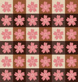 Sakura tiles patternsakura pattern background vector image