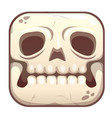 scary app icon with stylized old cartoon skull vector image