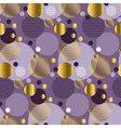 Xmas seamless dots modern pattern purple vector image vector image