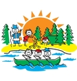 Stick figure camping vector image