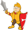 Knight Cartoon Character vector image