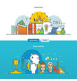 innovation new ideas and brain training vector image
