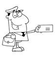 Mail man cartoon vector image vector image