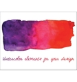 watercolor gradient stripe Watercolor wet stains vector image