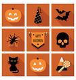 halloween icons vector image vector image