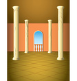 Column hall with window vector image