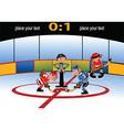 Playing hockey cartoon vector image