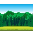 Mountains and wood by summer vector image