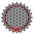 Black lace doily vector image