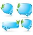 eco speech bubble set vector image