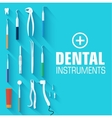 flat dental instruments set design concept vector image