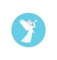 Icon Colorful Christmas Angel vector image