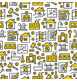 real estate icons pattern vector image