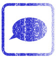 message cloud framed textured icon vector image