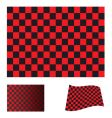 checkered red flag vector image