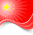 1 October National day PRC holiday background vector image