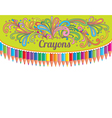 Crayons composition vector image vector image
