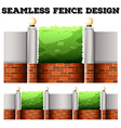 Seamless fence desing with lamps vector image