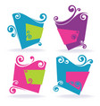 spiral banners vector image