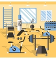 Bodybuilding Gym Poster vector image