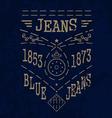 Blue Jeans emblemVS vector image
