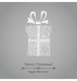 Christmas gift box of snowflakes vector image