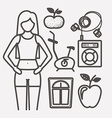 Fitness lifestyle vector image