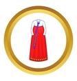 Korean traditional dress icon vector image