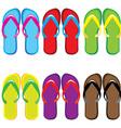 pairs of flip flops vector image