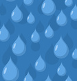 Rain seamless pattern background of Blue water vector image