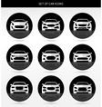 set of car icons vector image