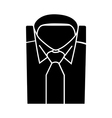 Shirt and tie icon suit men formal business logo vector image