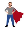 superdad cartoon character vector image