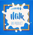 white milk splash blot drink element vector image
