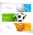 Set of banners with sport balls vector image vector image