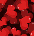 Love 3D seamless pattern Red heart background vector image