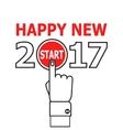 Start new year 2017 idea vector image