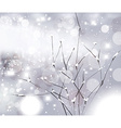 White Winter Christmas Background vector image