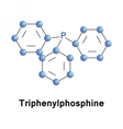 Triphenylphosphine for organic synthesis vector image
