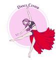 dance line color contemporary vector image