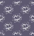 Seamless floral pattern hand drawing vector image