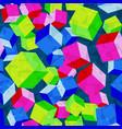cubes rhombus seamless pattern vector image
