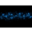 Blue magic lights vector image vector image