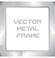 old riveted metal frame vector image