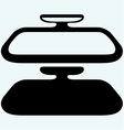 Car rear view mirror vector image