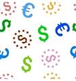 Dollar Stars Seamless Flat Pattern vector image
