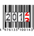 2013 New Year counter barcode vector image