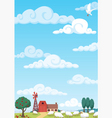 farm background vector image
