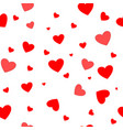 heart couple seamless pattern vector image