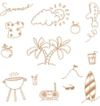 Holiday happy doodle vector image